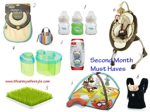 second month must haves